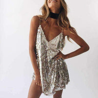 Womens - SPARKLING CHAMPAGNE CHRISTMAS DRESS