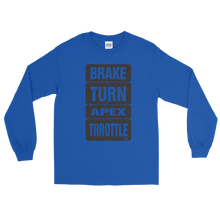 "Load image into Gallery viewer, ""Brake-Turn-Apex-Throttle"" Long Sleeve T-Shirt"