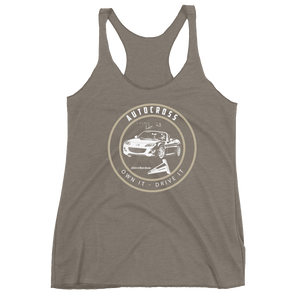 """Own It - Drive It"" Autocross Women's Racerback Tank"