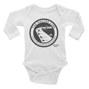 """The Racing Line"" Infant Long Sleeve Bodysuit"