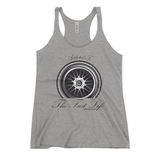"Load image into Gallery viewer, ""Addicted to the Fast Life"" Women's Racerback Tank"