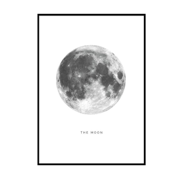 THE MOON  - PLAKAT 50X70 CM.