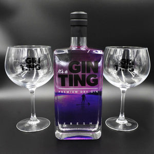 GinTing 70cl Bottle and 2 Copa Glasses