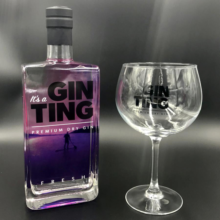 GinTing 70cl Bottle and Copa Glass