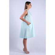 Side View Of Tiara Mint Sun Dress