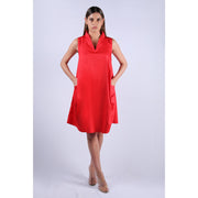 Katya - Double Pocket Red Dress