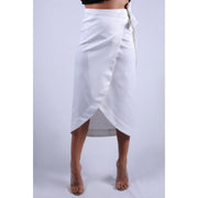 Front View Of Cruise White Double Fold Skirt