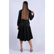 Back View of Black Rose Dress