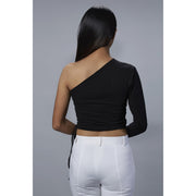 Chelsea Black One Shoulder Top Back View