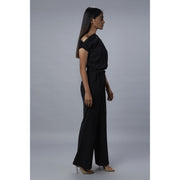 Lizzo Black Off Shoulder Jumpsuit Side View