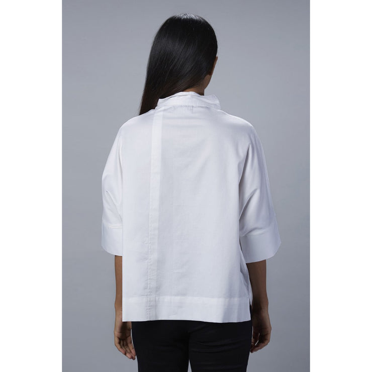 Leah Boxed A line Shirt Back View