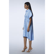 The Victoria Powder Blue Dress Side View