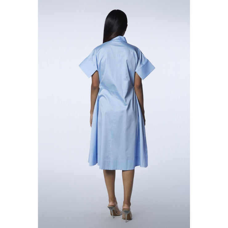 The Victoria Powder Blue Dress Back View