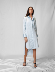 Powder Blue Shirt Dress