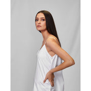 Skinny White Shift Dress
