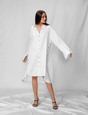 White Shirt Jacket Dress