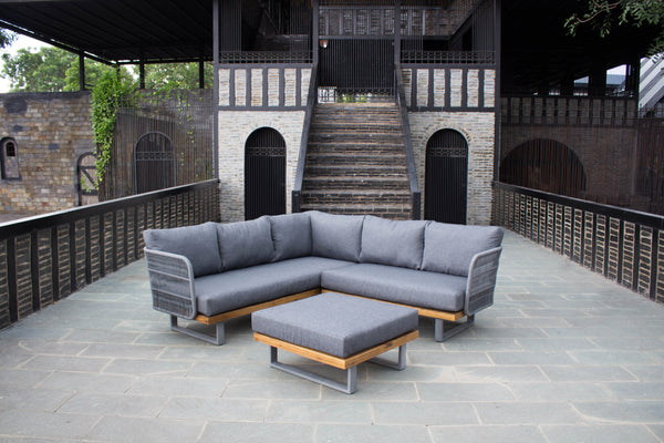 Rope Weave Outdoor Corner Sofa