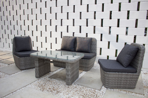 Compact Small Rattan Sofa Set