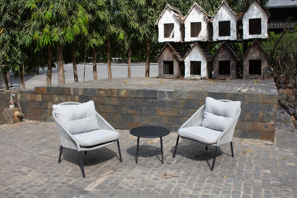 Balcony Rope Chairs Side Table Outdoor