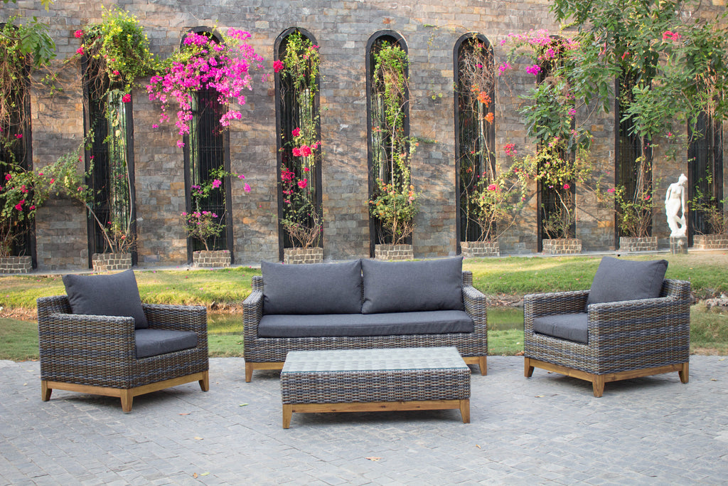 Seville Lounge Rattan Sofa Set, Coffee Table