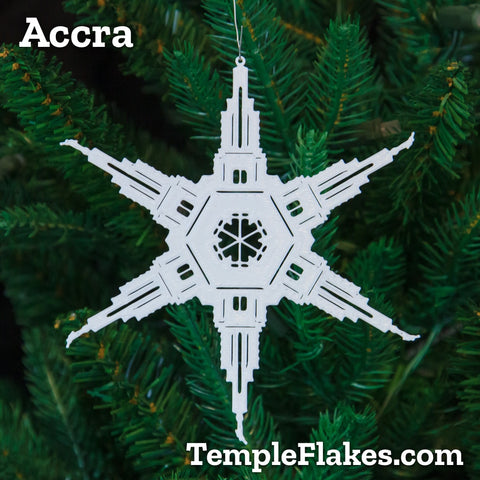 Accra Ghana Temple Christmas Ornament