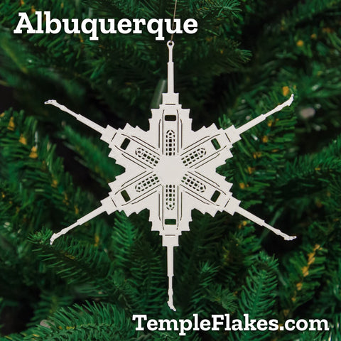 Albuquerque New Mexico Temple Christmas Ornament