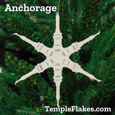 Anchorage Alaska Temple Christmas Ornament