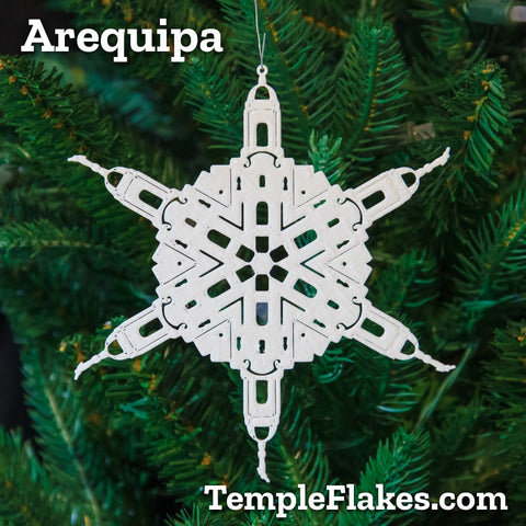 Arequipa Peru Temple Christmas Ornament