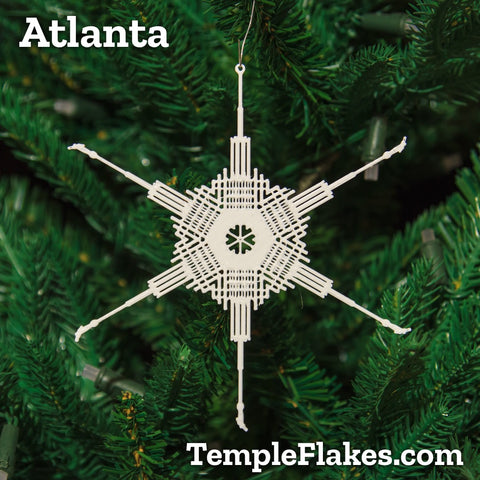 Atlanta Georgia Temple Christmas Ornament