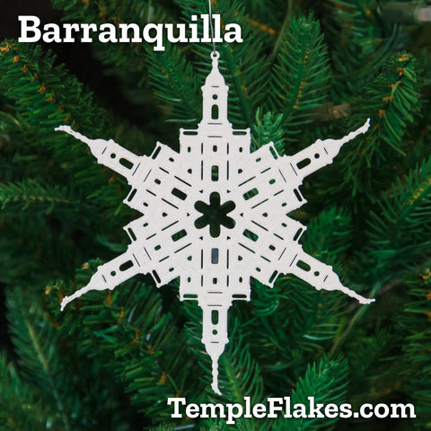 Barranquilla Colombia Temple Christmas Ornament