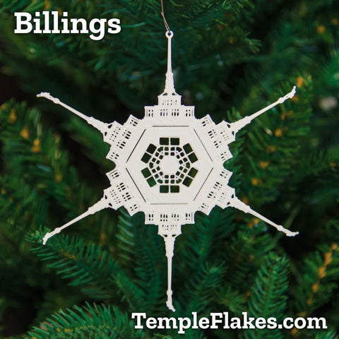 Billings Montana Temple Christmas Ornament