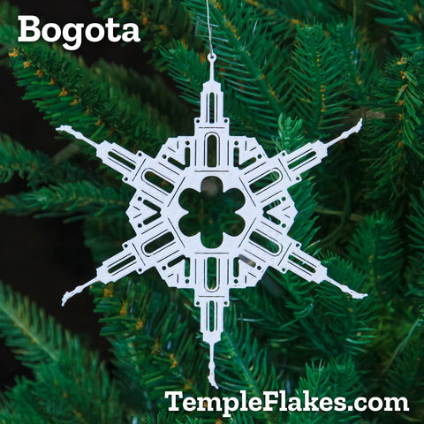 Bogota Colombia Temple Christmas Ornament