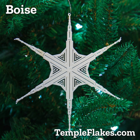 Boise Idaho Temple Christmas Ornament