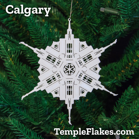 Calgary Alberta Temple Christmas Ornament