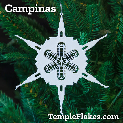 Campinas Brazil Temple Christmas Ornament