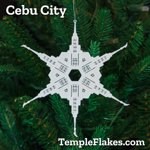 Cebu City Philippines Temple Christmas Ornament