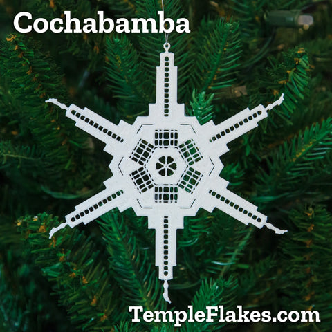 Cochabamba Bolivia Temple Christmas Ornament