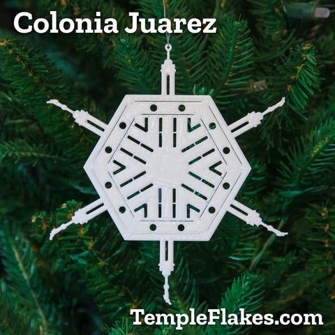 Colonia Juarez Temple Christmas Ornament