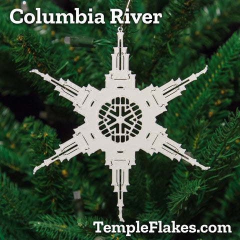 Columbia River Washington Temple Christmas Ornament