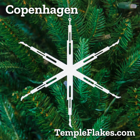 Copenhagen Denmark Temple Christmas Ornament