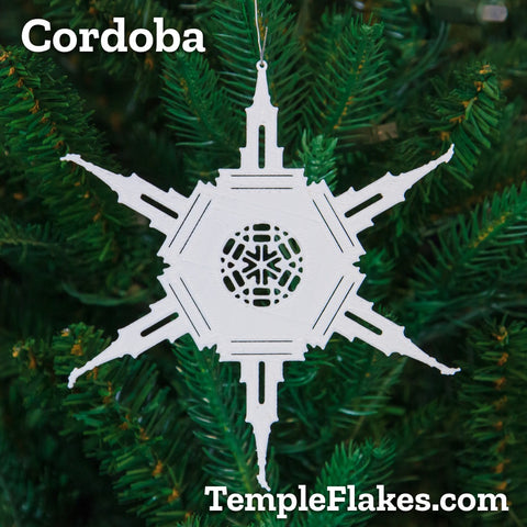Cordoba Argentina Temple Christmas Ornament