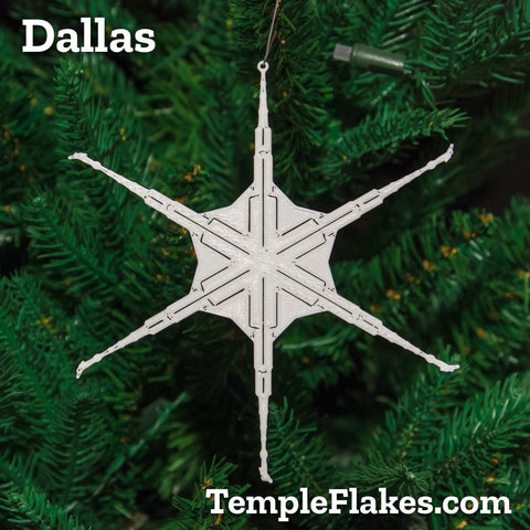 Dallas Texas Temple Christmas Ornament