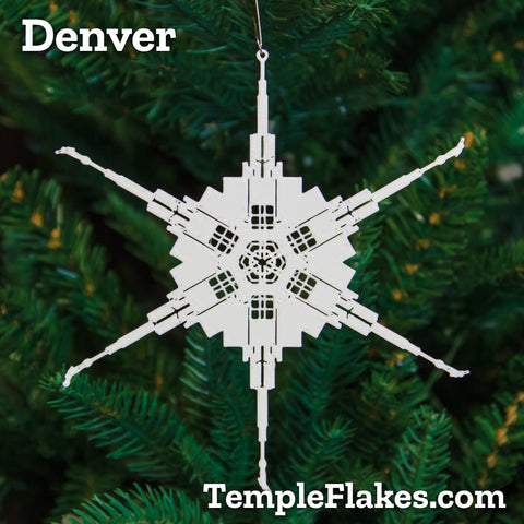 Denver Colorado Temple Christmas Ornament