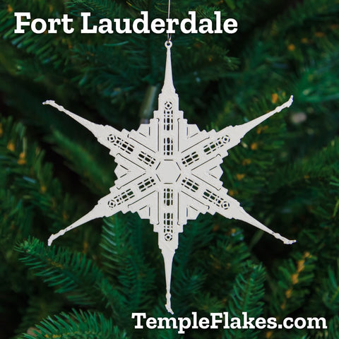 Fort Lauderdale Temple Christmas Ornament