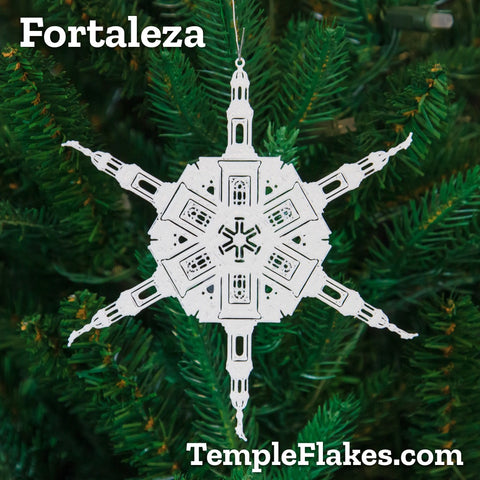 Fortaleza Brazil Temple Christmas Ornament