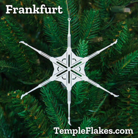 Frankfurt Germany Temple Christmas Ornament