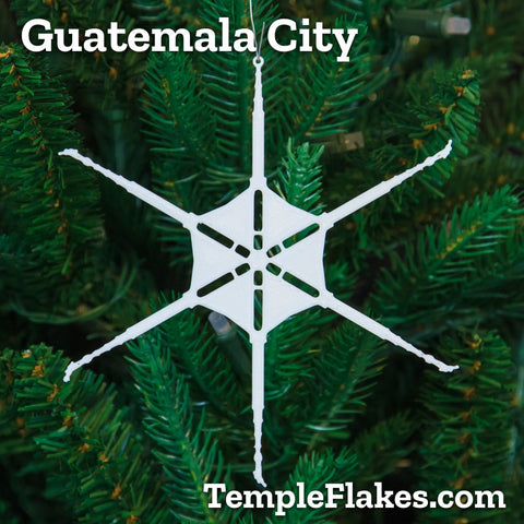 Guatemala City Guatemala Temple Christmas Ornament