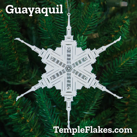 Guayaquil Ecuador Temple Christmas Ornament