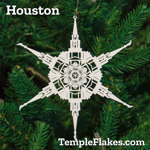 Houston Texas Temple Christmas Ornament