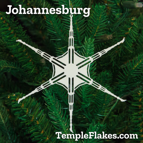 Johannesburg South Africa Temple Christmas Ornament